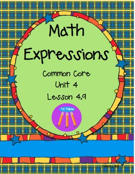 Math Expressions First Grade Unit 4 Lesson 4.9