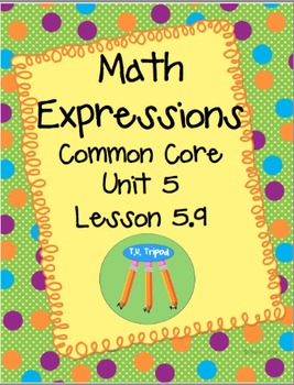 Math Expressions First Grade Unit 5 Lesson 5.9