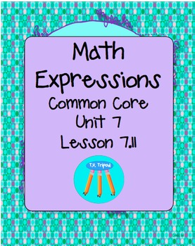 Math Expressions First Grade Unit 7 Lesson 7.11