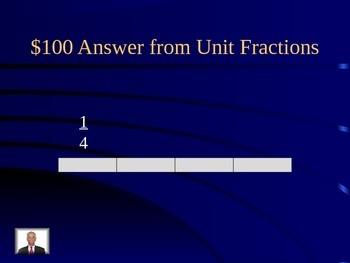 Math Expressions Fractions Jeopardy Game Unit 7 Grade 3