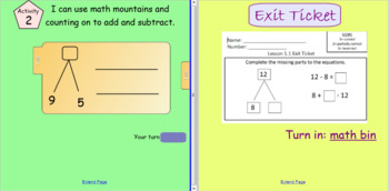 Math Expressions Grade 2 Unit 1 Lesson 1 SMART Board Lesson