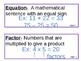Math Expressions Grade 3 Unit 1 Vocabulary