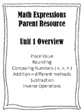 Math Expressions Grade 4 Unit 1 Parent Homework Helper