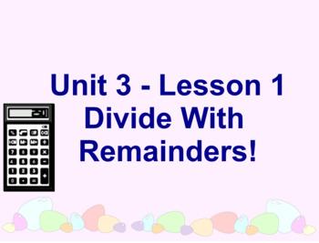 Math Expressions - Grade 4 - Unit 3 - SMART Board lessons
