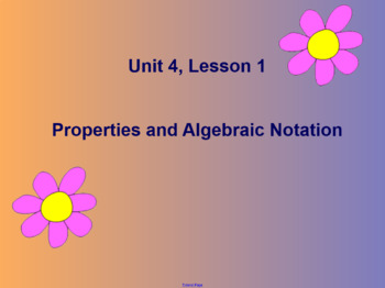 Math Expressions - Grade 4 - Unit 4 - SMART Board Lessons