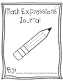 Math Expressions Journal Writing Prompts Intervention Unit 3
