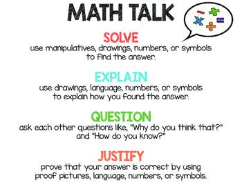 Math Expressions Math Talk Poster