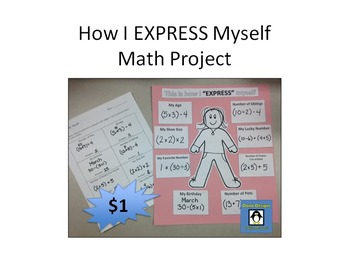 Math Expressions Project - Print and go!