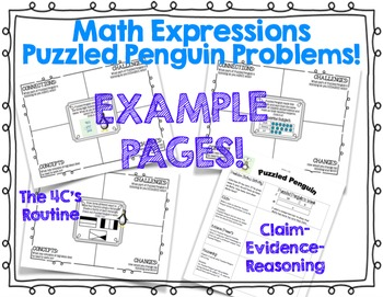 Math Expressions - Puzzled Penguin Activities