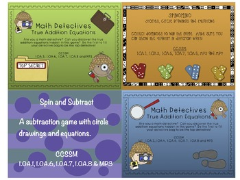Math Expressions Supplemental Activities Bundle (Grade 1, Unit 2 - 2013 Edition)