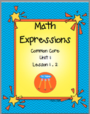 Math Expressions Unit 1 First Grade Lesson 1.2