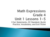 Math Expressions Unit 1 Lesson 1-5 Grade 4