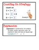 Math Expressions Unit 1 Vocabulary Cards