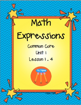 Math Expressions Unit 1First Grade Lesson 1.4