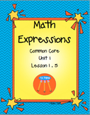 Math Expressions Unit 1First Grade Lesson 1.5