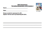 Math Expressions Unit 2 Formative Assessments