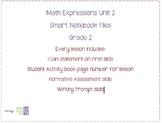 Math Expressions Unit 2 Grade 2 Smart Notebook Companion Files