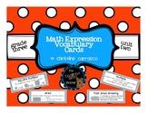 Math Expressions Grade 3, Unit 2 Vocabulary Cards