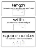 Math Expressions Unit 2 word wall words - third grade