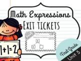 Math Expressions Unit 3 Exit Tickets - 1st Grade