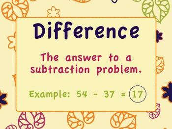 Math Expressions Unit 3 Vocab