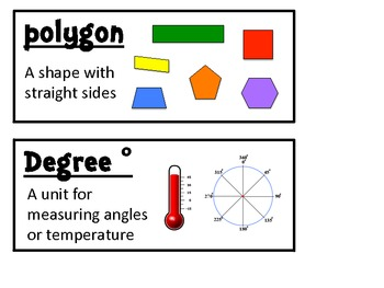 Math Expressions Unit 4 Vocabulary Cards