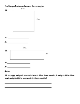 Math Expressions Unit 5 Review 4th Grade
