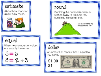 Math Expressions Unit 5 Vocabulary