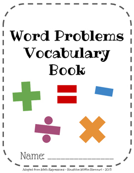 Math Expressions, Unit 5 Vocabulary Book