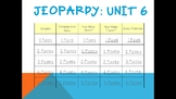 Math Expressions Common Core Unit 6 Jeopardy for 1st Grade