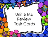 Math Expressions Unit 6 Review Task Cards