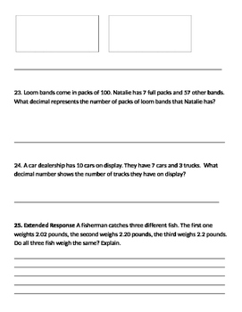 Math Expressions Unit 7 Review 4th Grade