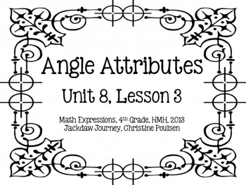 Math Expressions, Unit 8, Grade 4, Geometric Attributes Cards, HMH 2013