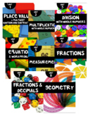 Math Expressions Unit Binder Covers