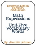 Math Expressions Unit Five Vocabulary