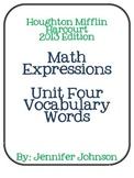 Math Expressions Unit Four Vocabulary