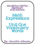 Math Expressions Unit One Vocabulary