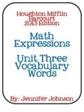 Math Expressions Unit Three Vocabulary
