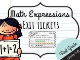 Math Expressions Units 1 - 8 Exit Tickets - 1st Grade **BUNDLE**