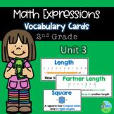Math Expressions Vocabulary Cards Grade 2 Unit 3