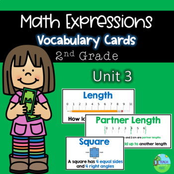 Math Expressions Vocabulary Cards Grade 2 Unit 3