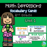 Math Expressions Vocabulary Cards Grade 2 Unit 1