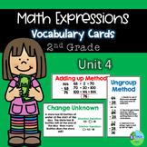 Math Expressions Vocabulary Cards Grade 2 Unit 4