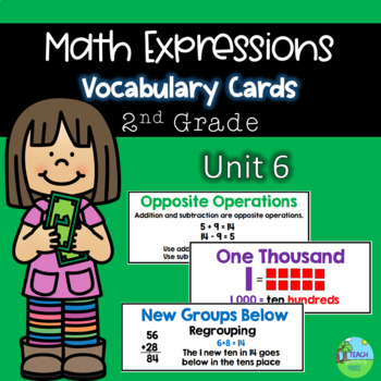 Math Expressions Vocabulary Cards Grade 2 Unit 6