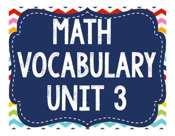Math Expressions Vocabulary Grade 5 - Unit 3