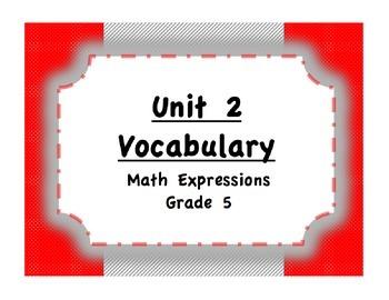 Unit 2 Measurement/Shapes/Angles Vocabulary (Math Expressi