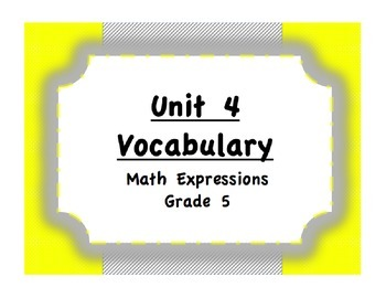 Unit 4 Angles/Shapes/Translations Vocabulary (Math Express