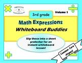 Math Expressions Whiteboard Buddies Volume 1