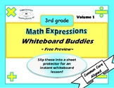 Math Expressions Whiteboard Buddies Volume 1 PREVIEW