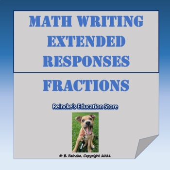 Math Writing Extended Responses with Fractions